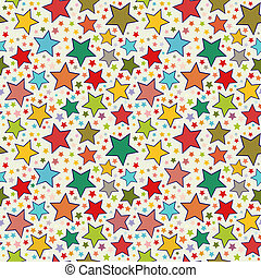 Colorful stars seamless pattern