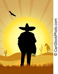 Mexican man - illustration of Mexican man