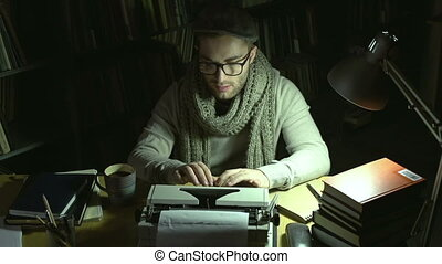 Inspiration - A writer typing on printing-press