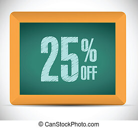 25 percent discount message illustration design over a white...