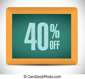 40 percent discount message illustration design over a white...