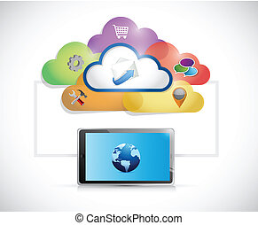 tablet computer network connection communication