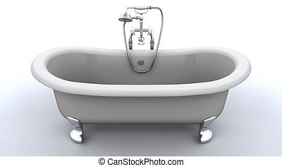 classic roll top bath - 3d render of classic roll top bath...