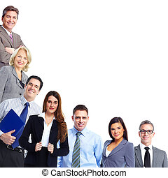 Business team - Group of business people team Isolated over...