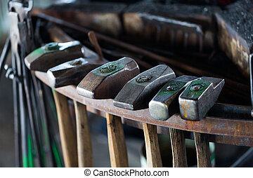 Blacksmith shop - Tools of the blacksmith in blacksmith shop...