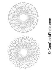 Doily - A set of two old doilys on white