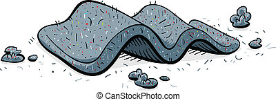 Lint Debris - A pad of cartoon lint pulled from the trap of...