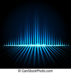 Equalizer on abstract technology background - Techno...