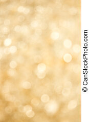 Abstract Gold Defocussed Lights Background