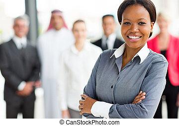 businessowoman, junger, afrikanisch