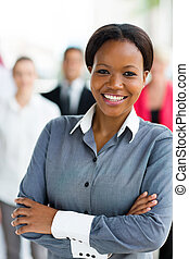 african american corporate worker - pretty african american...