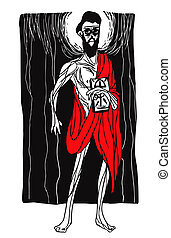 Expressionism Christian Apostle - Apostle illustration in...