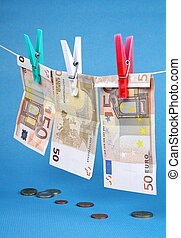 Euro money laundering with Italy colors