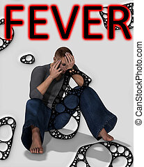 Fever - Concept medical image about swine fever