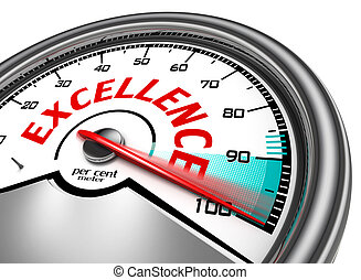 excellence conceptual meter indicate maximum, isolated on...