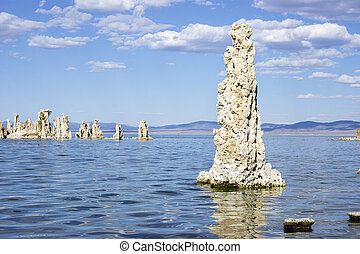 Tufa structures, Mono Lake, California - Tufa structures in...