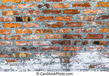 old defense wall red bricks - The old defense wall with red...