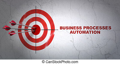Business concept: target and Business Processes Automation...