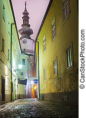 Old Town, Bratislava, Slovakia, Europe - Historical alley in...