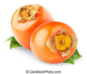 Persimmon fruits isolated on white