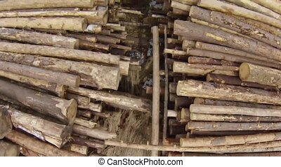 Raw Wood Storage, air view