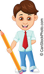 Businessman with pencil