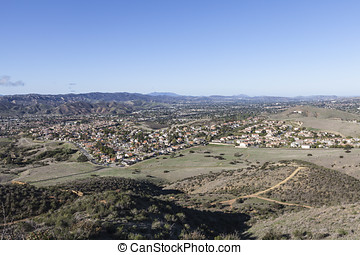 Simi Valley California - Clear smog free morning in Simi...