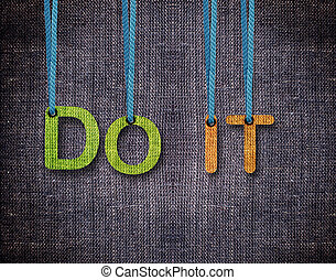 Letters hanging strings - Do it Letters hanging strings with...