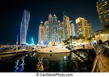 Dubai, UAE - DUBAI, UAE - DECEMBER 14: View of the region of...