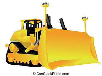 bulldozer isolated on a white background. 10 EPS