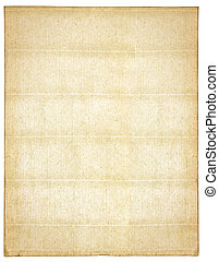 Antique paper isolated on white