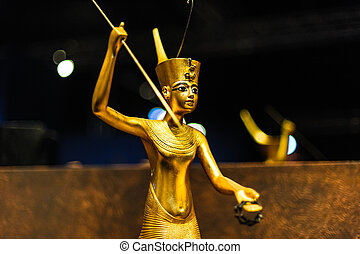 Golden egyptian Warrior - Golden scultpure of an egyptian...