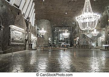 Chamber in Salt Mine in Wieliczka, Poland - WIELICZKA,...
