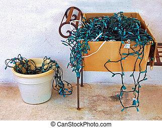 Tangled Christmas Lights - Tangled disorganized Christmas...