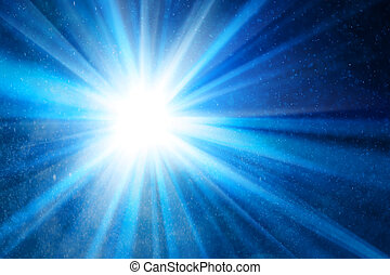abstract blue background with ray of light