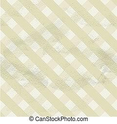 Seamless vintage beige pattern of crossed strips on grange...