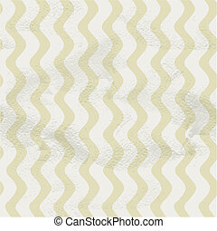 Seamless vintage beige pattern of vertical smooth waves on...