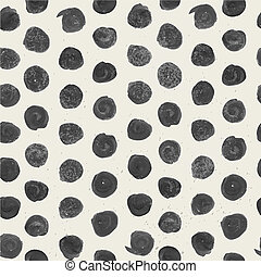 Light beige seamless ornament in black circle of rough thick...