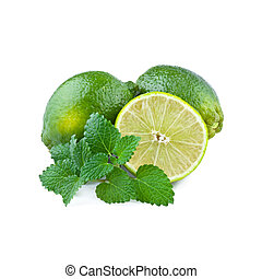 Fresh Lime with Mint Leaf