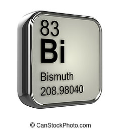 3d Bismuth element - 3d render of bismuth element