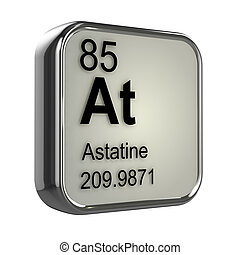3d Astatine element - 3d render of astatine element design