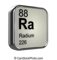 3d Radium element - 3d render of radium element design