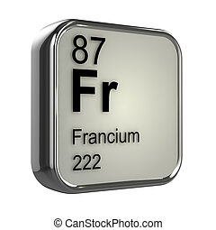 3d Francium elementq - 3d render of francium element design