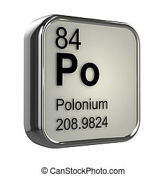 3d Polonium element - 3d render of polonium element design