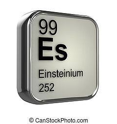 3d Einsteinium element - 3d render of einsteinium element...