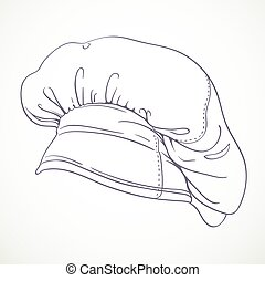 Outlined chef hat