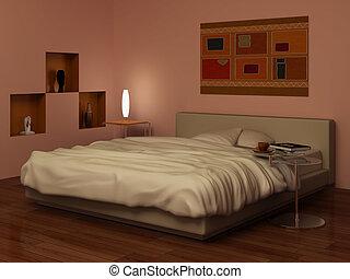 Evening in bedrooms