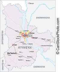 Map of Kiev Oblast and city of Kiev - Map of Kiev Oblast...