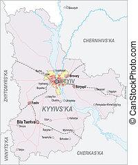 Map of Kiev Oblast and city of Kiev - Map of Kiev Oblast...