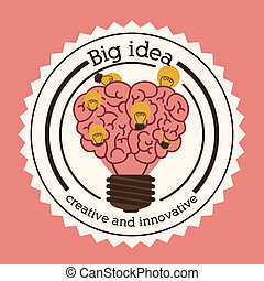 idea design - idea design over background vector...